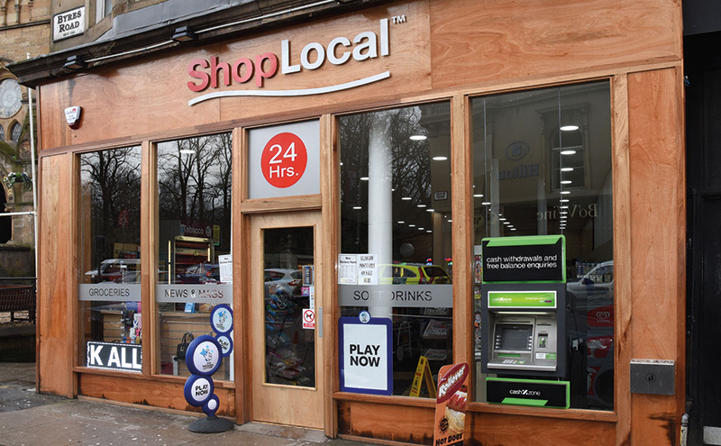 Shop Local's wood finish on its store-front was chosen to complement the local aesthetic on Glasgow's Byres Road.