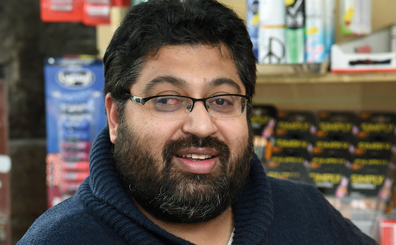 Aftab Ameen (above) owns and operates the recently-opened Shop Local in Byres Road, Glasgow, with help from his family (left), including father Mohammed, mother Mumtaz and sister Zahida.