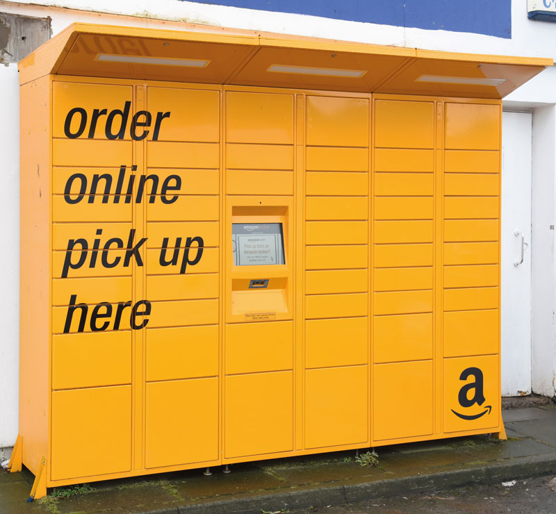 Amazon lockers have been introduced to a number of Jet forecourts across Scotland.