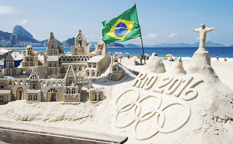Photo: lazyllama /Shutterstock.com. Brazilian city Rio De Janeiro, famous for Copacabana beach, Sugarloaf Mountain, the statue of Christ the Redeemer and passionate players and fans of football and beach volleyball plays host to the world's sports festival for 17 days next month.