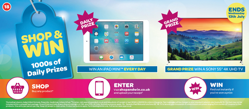 """Prizes up for grabs in the first phase of the new campaign include iPad Minis and a grand prize of a Sony 55"""" 4K TV."""
