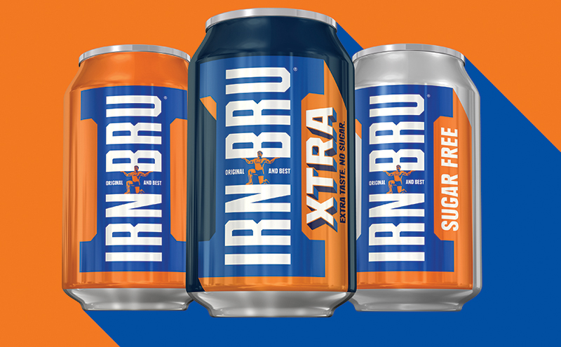 And then there were three. Irn-Bru Xtra joins the classic Irn-Bru and Irn-Bru Sugar Free. The new Irn-Bru contains no sugar but brand owner Barr says it tastes very like the classic drink.