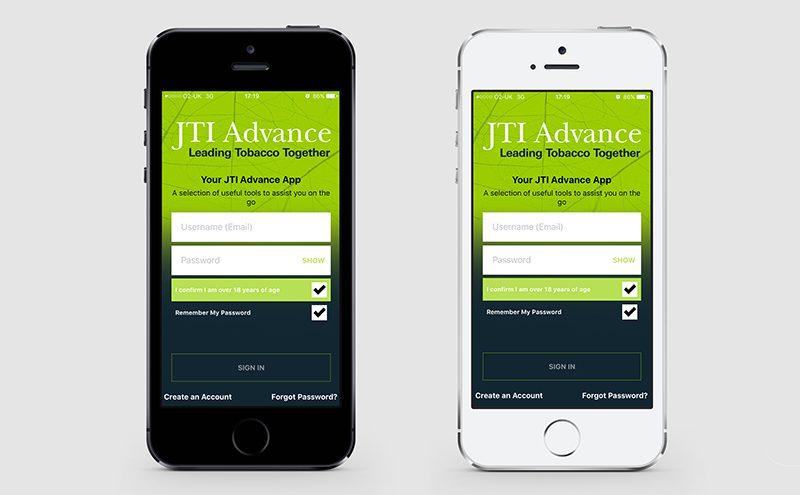 JTI App launch