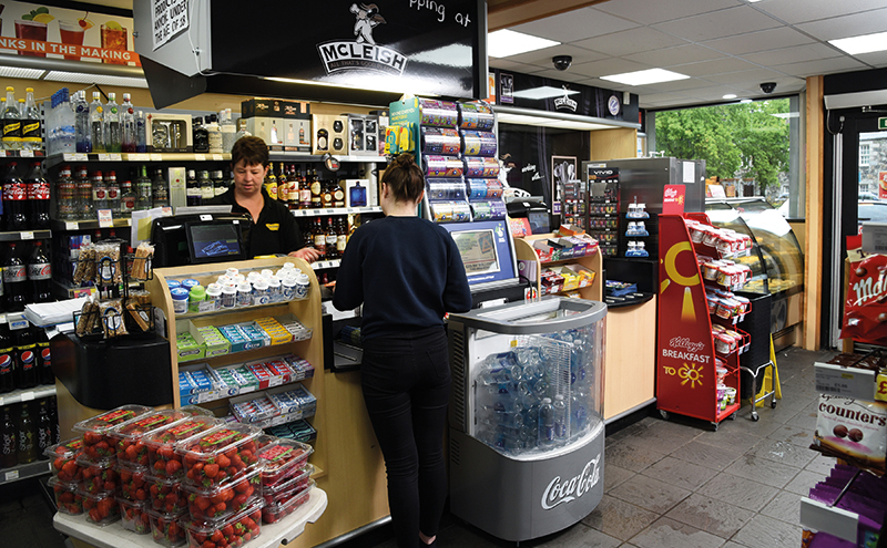 If you want to get an idea of the constant innovation that goes on at McLeish in the Aberdeenshire town of Inverurie you need look no further than the till area. As well as having the usual impulse lines, grab-and-go display space has been made available for local berries, chilled bottled water, and breakfast to go products. Above the till there's a store-branded, staff-accessible, display-ban-compliant tobacco storage area. That means greater back counter space has been freed up for spirits which have been re-merchandised in conjunction with Maxxium. The section includes many more spaces for premium lines and fractional sizes and that has boosted sales. At the right-hand side of the counter fresh bakery display cabinets and an ice-cream machine also bring points of difference, and incremental sales, to the store.