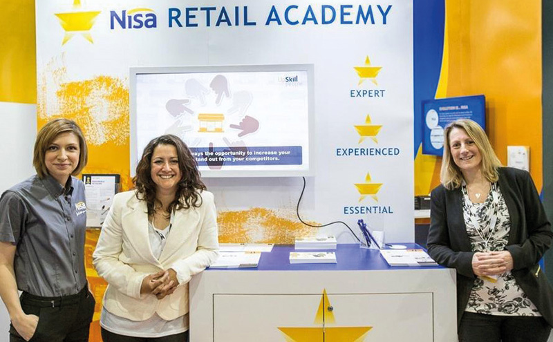 Nisa training manager Emma Brock with Helen Beecher and Kay Gilbert from Upskill People at the launch of Nisa Retail Academy's online portal.