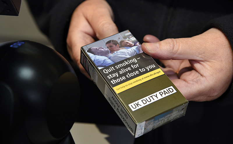 Not much to see?  After 20 May 2017 tobacco retailers will only be allowed to sell cigarettes and other tobacco products in standardised packaging. But manufacturers have only been allowed to package products for the UK market in such packs from May this year. As stocks of previously branded packaged products run out more and more legitimate tobacco products will be sold in uniform olive green packs with large health warnings and images of life-threatening illness, and with extremely limited brand and product identification. At the same time the implementation of the amended European Union Tobacco Products Directive (EUTPD2) will mean only packs of 20 sticks of cigarettes or more and RYO packs of 30g and more will be able to be sold.