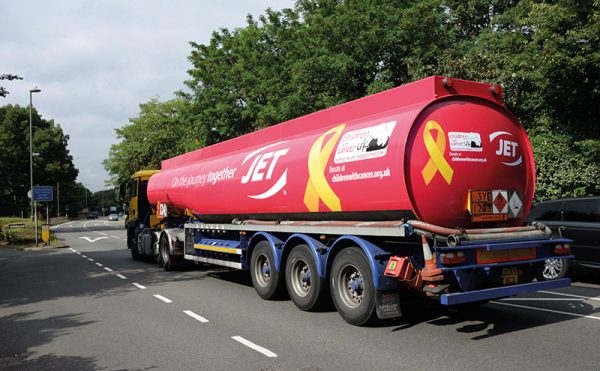 Tankers put on the ribbon for charity