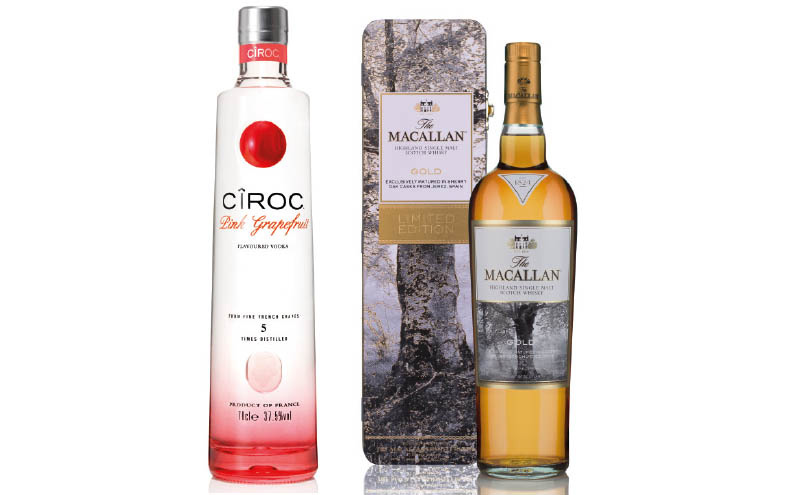 Diageo has a new premium vodka in its Ciroc range, Ciroc Pink Grapefruit, and The Macallan has a gift tin that celebrates the influence of wood on fine whisky.