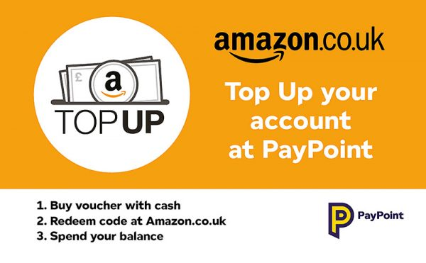 Amazon Top Up added to PayPoint's digital voucher range