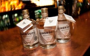 The launch of the world's first social enterprise gin,  Ginerosity, at Harry's Bar, Edinburgh. Pickering's Gin founders Marcus Pickering and Matt Gammell have formed a new company, Good Spirits (Scotland) CIC in partnership with social enterprise entrepreneur Chris Thewlis. Dave Mullin of marketing agency Story and drinks industry and export specialist David Moore. Edinburgh. 14 Nov 2016 Credit: Photo by Tina Norris. Copyright photograph by Tina Norris. Not to be archived and reproduced without prior permission and payment. Contact Tina on 07775 593 830 info@tinanorris.co.uk   www.tinanorris.co.uk More info: Colin Campbell colin@twistedmouth.co.uk +44 7900 220 554