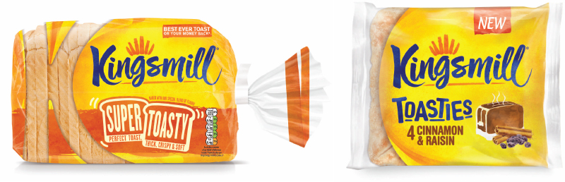 KIngsmill has given its entire range a new look and launched the Super Toasty loaf. In October it launched Toasties, a breakfast toasting product which can be torn in two to reveal pieces of fruit inside. The firm will also change the recipes of a number of products in January 2017.