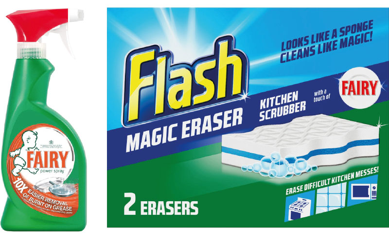 Fairy flash cleaning products
