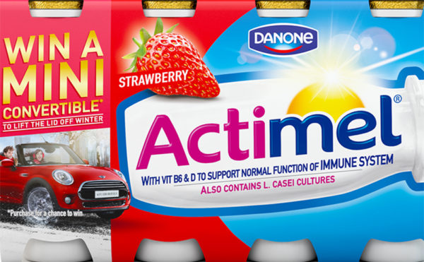 Actimel Mini Cooper comp for March