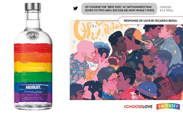 Vodka brands choose the rainbow