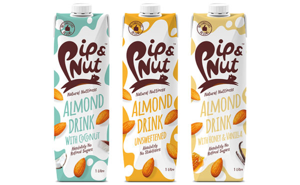 Pip pops out almond milk drinks