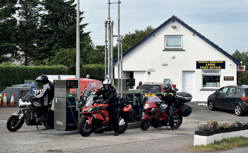 The growth in popularity of the North Coast 500 route has brought a lot of new customers onto the forecourt. The site is on the main road – with many miles to the next petrol stops on the route – so is a convenient refuelling place for tourists.