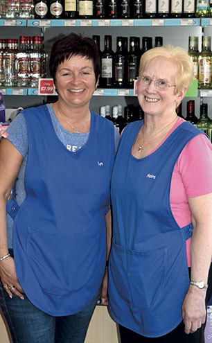 Lyn Allan (left) bought Mace Fraserburgh in 2014, inheriting a team including her second-in-command, head supervisor Moira Alexander (right), who has been with the store for 38 years.