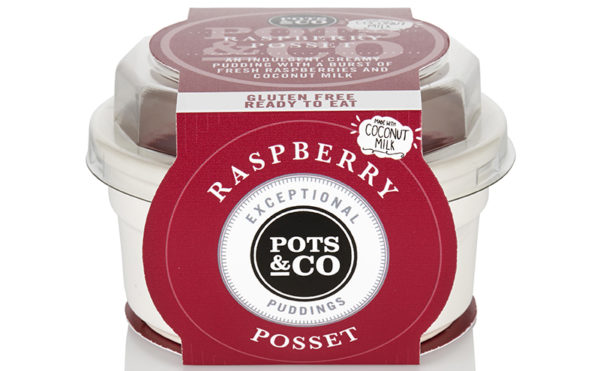 A dairy-free raspberry dessert