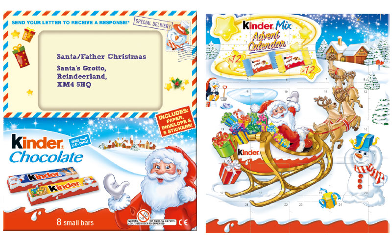 Ferrero is engaging family for Christmas 2017 with new seasonal products from its Kinder brand.