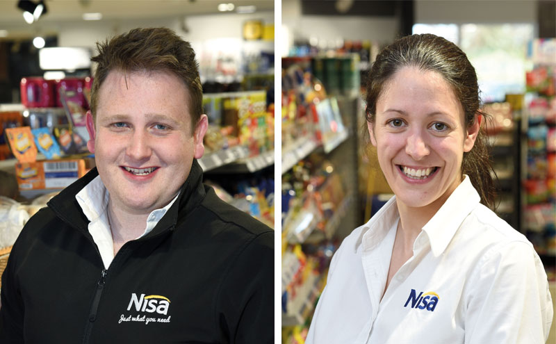 Dan Brown, manager and Joanna Casonato, owner