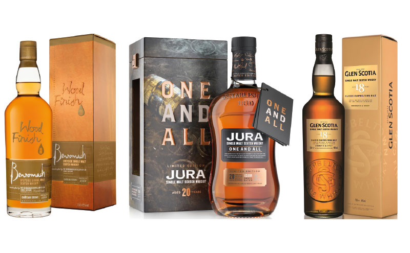 The months leading up to Christmas are a busy time for whisky producers, with many new releases, including the Benromach Chateau Cissac Wood Finish 2009, Jura One and All and Glen Scotia 18 Year Old Single Malt.