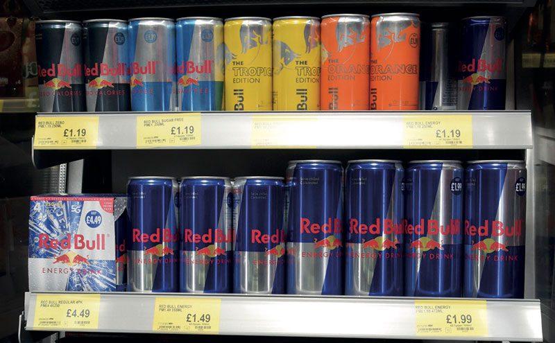 Red Bull various sizes