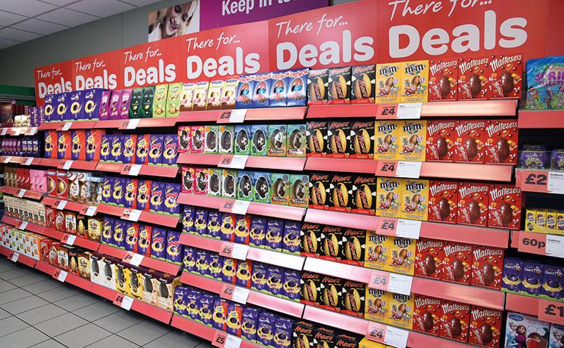 Spar Easter Deals on shelves