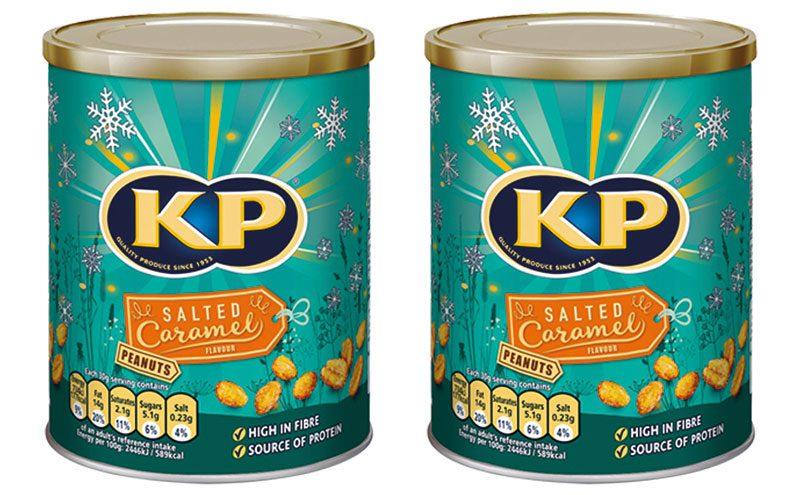 KP Salted Caramel Peanut tins