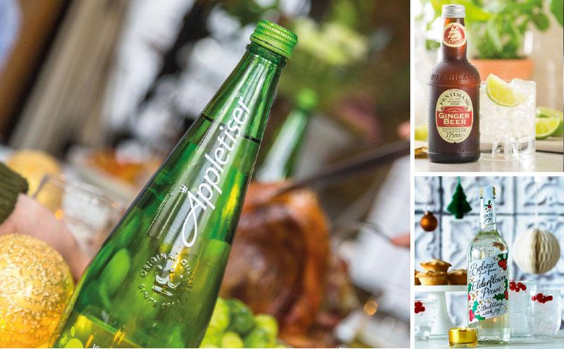 Appletiser, Feminans Ginger Beer and Belvoir Elderflower Pressé