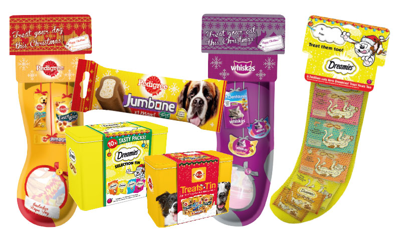 Selection of Christmas gifts for pets