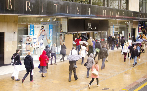 Six months of footfall decline