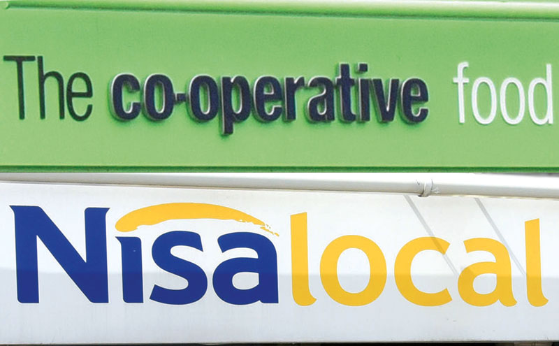 Co-op and Nisa signs
