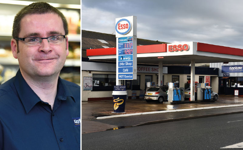 "Retailer Garry Haigh (above) says Peterhead Motors has been ""crazy busy"" since he switched supply to Filshill and converted his shop to the new KeyStore More fascia. Turnover is up over 25%, with categories like craft beer attracting new customers."