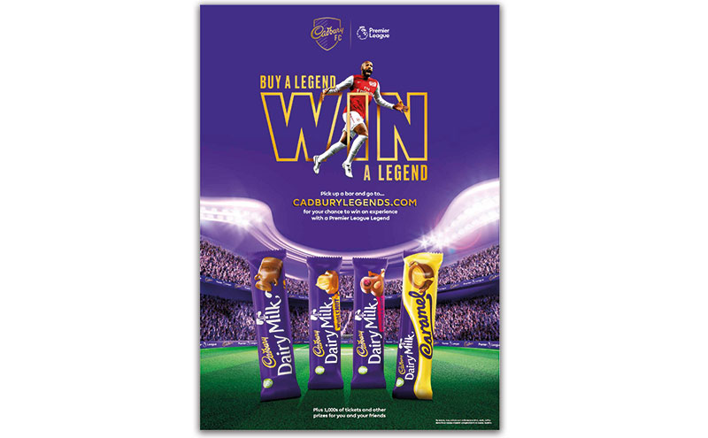 Buy a legend, win a legend Cadbury promotion