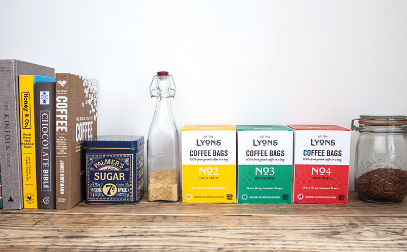 With single serve a growing trend in coffee, Lyons says its coffee bags, made with freshly ground coffee sealed into individual bags, are ready to meet demand.