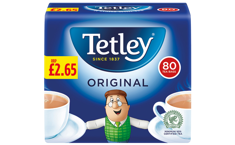 Tetley price marked pack