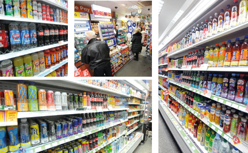 Installed by Coca-Cola, the BevTrac system in Londis Solo Convenience keeps shelf fronts faced up at all times. The store's chillers are stocked with formats ranging from glass bottles and cans to take-home 2L bottles.