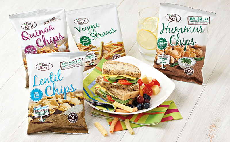 Younger consumers are seeking out healthier snacks with tasty flavours according to free-from snack brand Eat Real.