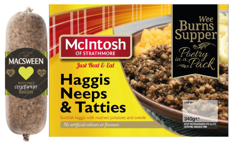Changing eating habits have led to the introduction of a wide range of haggis products including vegetarian and ready meal options.