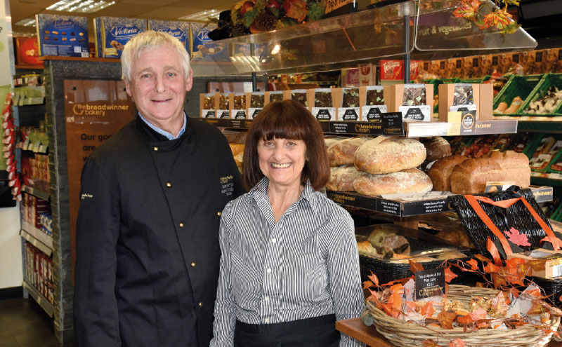 The eye-catching display of fresh, crusty loaves, pastries and traybakes at the front of the store is stocked by Sean and Lesley McVey of the Breadwinner Bakery (pictured), who supply a number of Scotmid stores across Edinburgh.