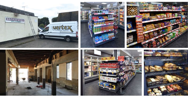 Before and after: McColl's took just four weeks to transform a former pub site into a thriving modern convenience store with wide aisles, high ceilings and an expansive chilled range. Contractor Vertex had a job on their hands stripping out the community pub which traded until closure. Major works completed during the refurbishment included creating a large glass frontage for the store as well as putting in a new floor and ceiling. Response from the local community post-refit has been positive.