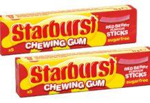 Starburst chewing gum