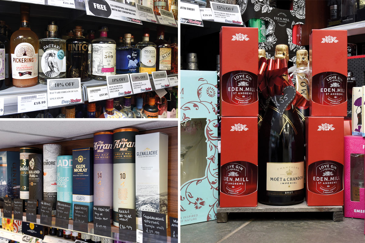 Doonfoot Day-Today gift packs, single malts and gin range