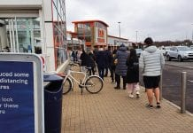 Queue at Tesco