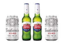 Stella Artois and Budweiser alcohol-free beers