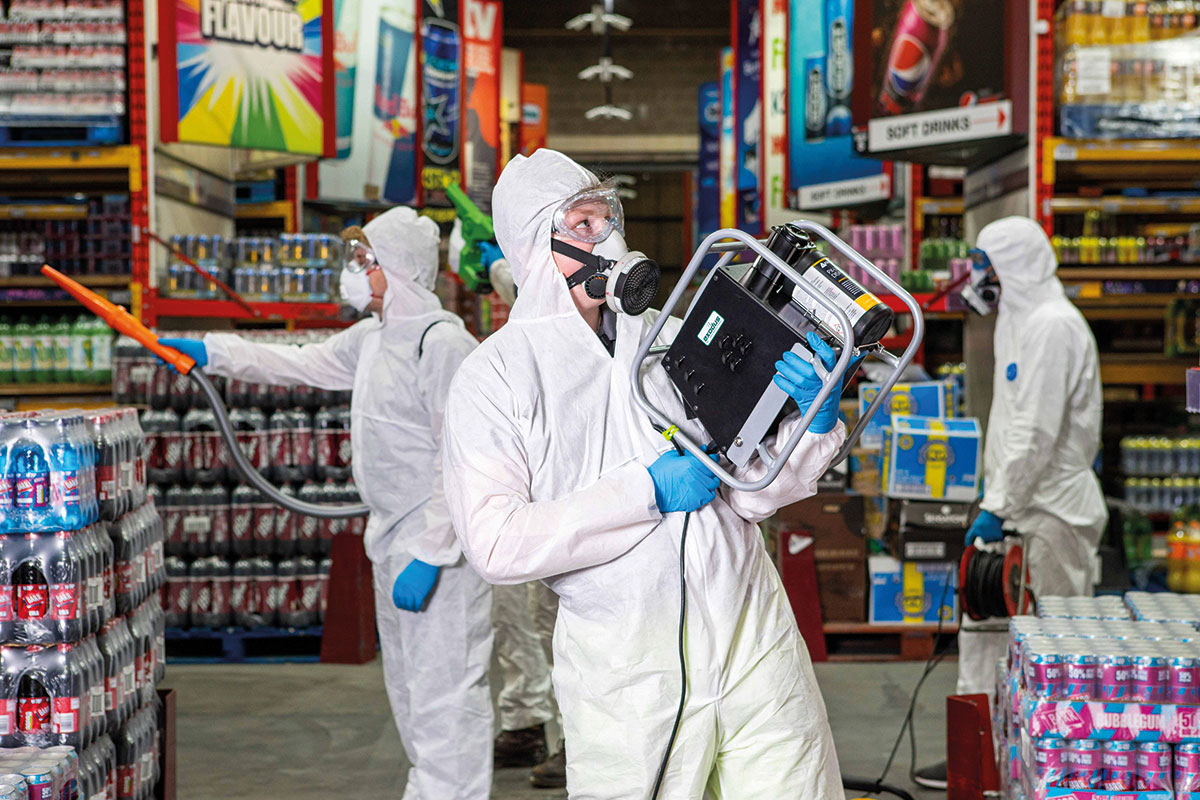 United Wholesale (Scotland) has been disinfecting its depots using 'bio-fogging'.