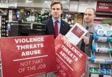 Daniel Johnson MSP promoting retail crime bill