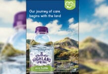 Highland Spring eco bottle