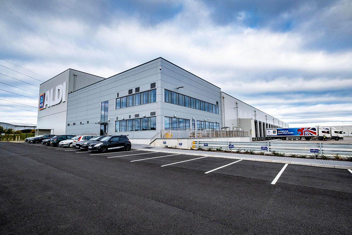 Aldi Freezer and Chill Factory in Bathgate