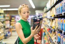 Female shopper in supermarket